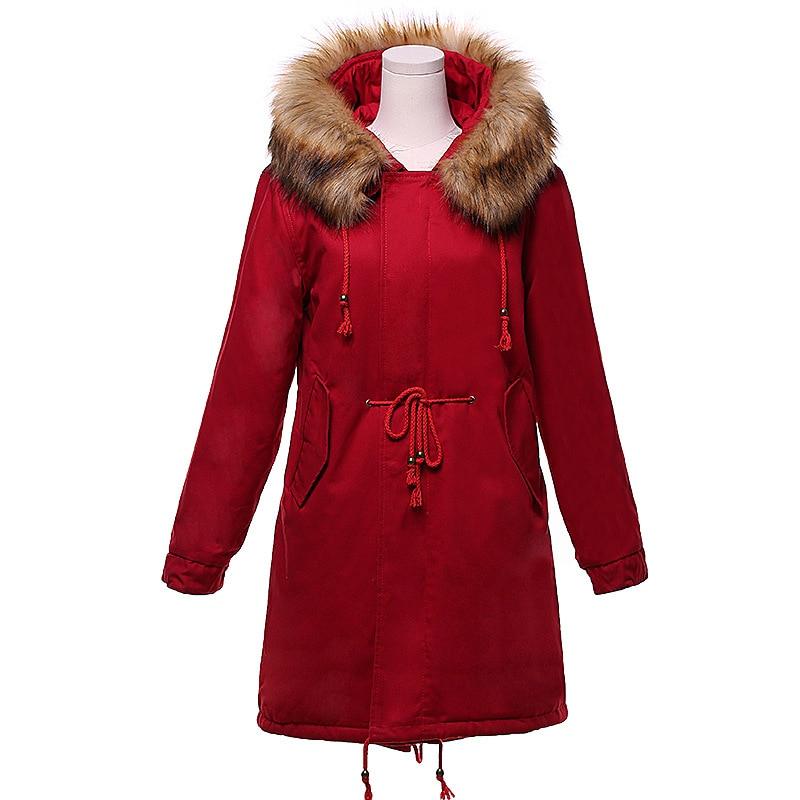 2017 women winter thicken warm coat female autumn hooded cotton fur plus size basic jacket outerwear slim long ladies chaqueta warm thicken baby rompers long sleeve organic cotton autumn