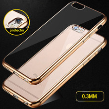 Luxury Ultra thin Plating Silicon TPU Soft Cover Case For apple iphone 6 6s 6plus 6s