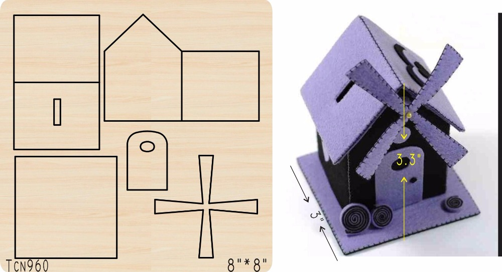 طاحونة خشب منزلي العفن/قطع أداة يموت/Tcn960-في قوالب قطع من المنزل والحديقة على  مجموعة 1