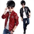 Spring Autumn Fashion Kids Leather Jacket boys PU Jacket Children Leather Outwear For boys Baby boy Jackets and Coats 7~15 T