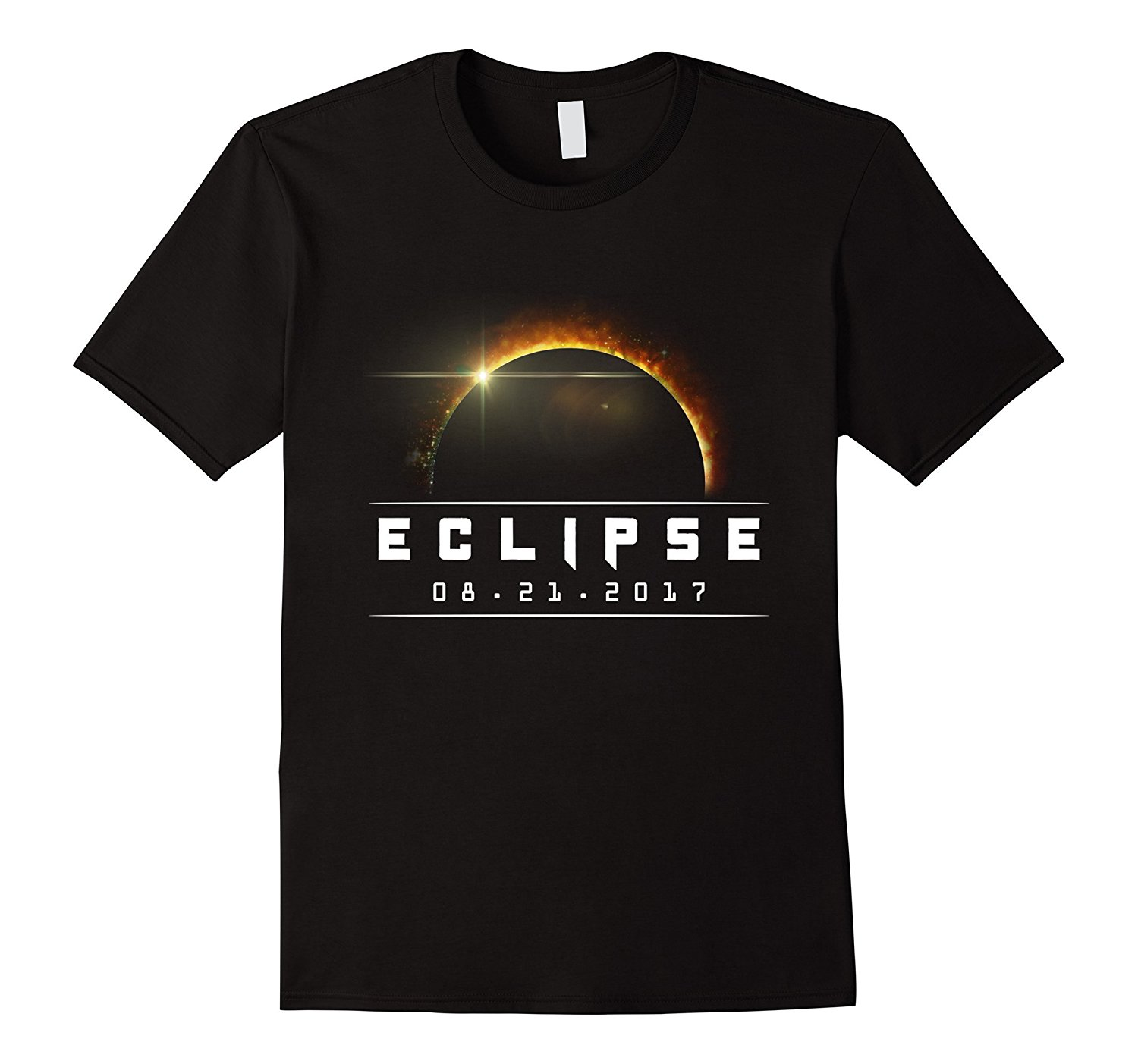 2018 New Summer High Quality Tee Shirt Commemorative Total Eclipse T-Shirt Aug 21st, 2017 - Red Cool T-shirt