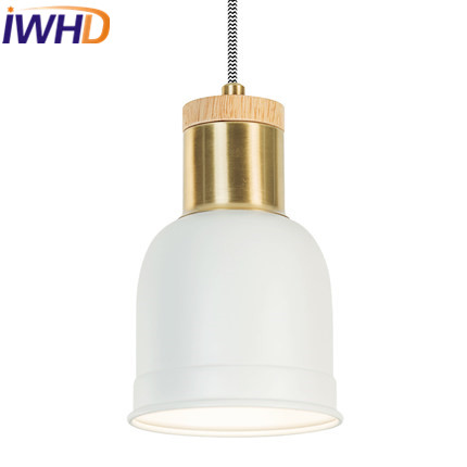 IWHD Iron Suspension Luminaire Led Pendant Lamp Bedroom Restaurant Kitchen Modern Pendant Lights Home Lighting Fixtures Lampara