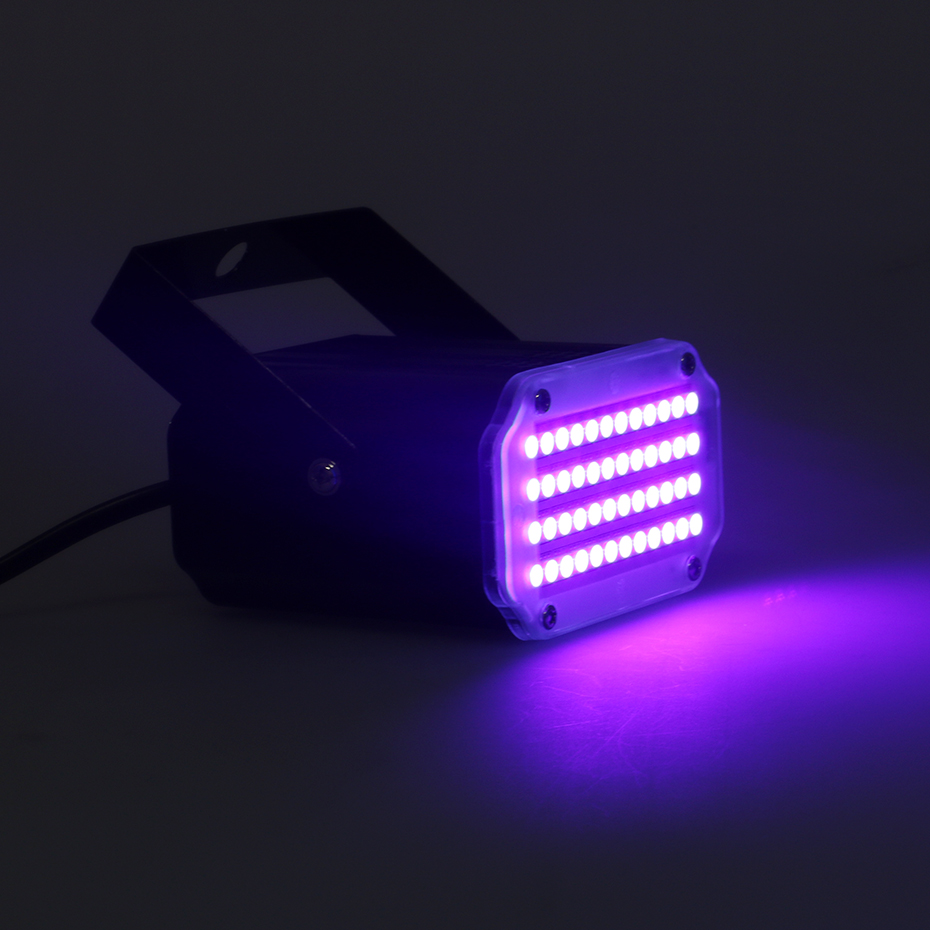 ALIEN 48 LED RGB UV White Strobe Lights Disco DJ Party Holiday Christmas Music Club Sound Activated Flash Stage Lighting Effect 4