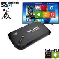 DVB-T2 Android TV BOX Dual Mode Set Top Box TV Tuner OS Aandroid 5.1 Amlogic S905 Quad Core DVB T2 Support 4K Display H.265