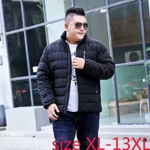 Супер большой 13xl 185 см зимнее толстое теплое пуховое пальто со стоячим воротником мужская верхняя одежда размера плюс XL-6XL7XL8XL9XL10XL11XL12XL13XL