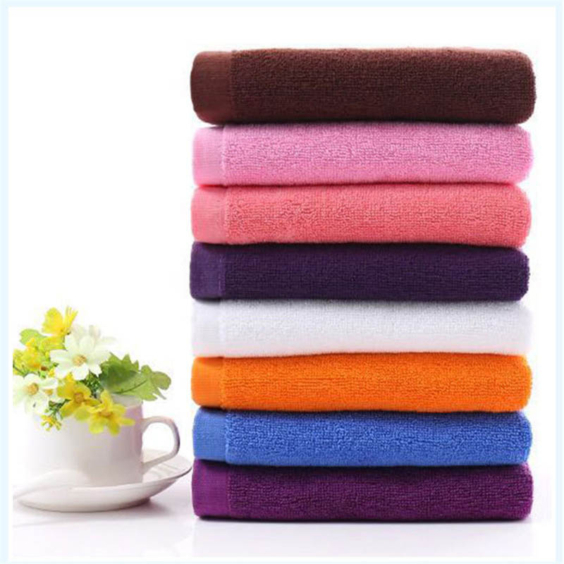 Wholesale Hotel Solid Cotton Towel 8 Colors Foot Bath