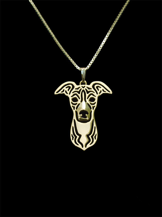 Trendy personalized Italian Greyhound pendant necklace women gold silver plated statement necklace men cs go wholesale collares
