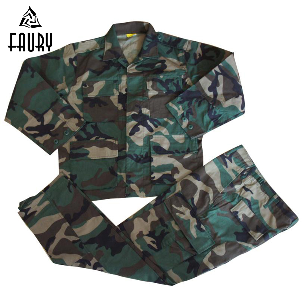 Men's Military Uniform Jungle Camouflage Training Army Combat BDU Hunt Suit Sets COAT+PANTS Outdoor Tactical Jacket High Quality