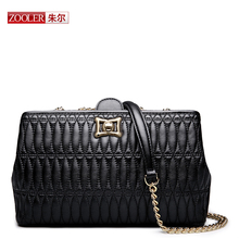 ZOOLER women messenger bag high end Genuine leather bag cross body China hot sale stylish women bag small chains #HS-3203