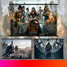 Assassins Creed Star Wars My Hero Academia Scroll Painting Anime Wall Hanging Poster Canvas 22 Styles Home Art Decoration 1