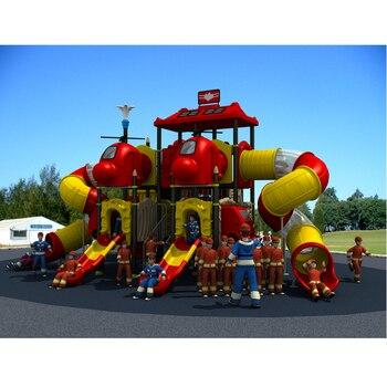 fireman amusement playground slide,outdoor playground park YLW-OUT1667