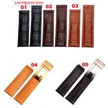 Laopijiang кожаные ремешки fit ro смотреть ремень модные аксессуары 19/20 мм