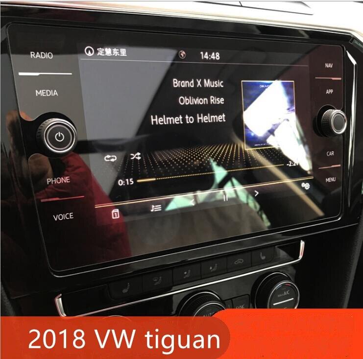 Tela De Vidro Temperado Película Protetora Adesivo GPS do carro Multimídia LCD Guarda Para VW Volkswagen Tiguan 2017 2018 MK2 Acessórios