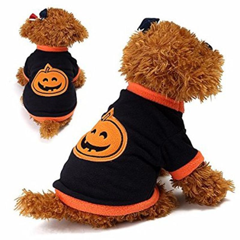Halloween Pumpkin Dog Costume Pet Fleece Jumper T,Shirt Outfit Costume Dog Halloween Party Jacket