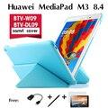 Для Huawei MediaPad M3 ультра-тонкие случаи BTV-W09 кобура BTV-DL09 поддержка набор оболочки деформации 8.4 дюймов набор Стенд Случае крышка