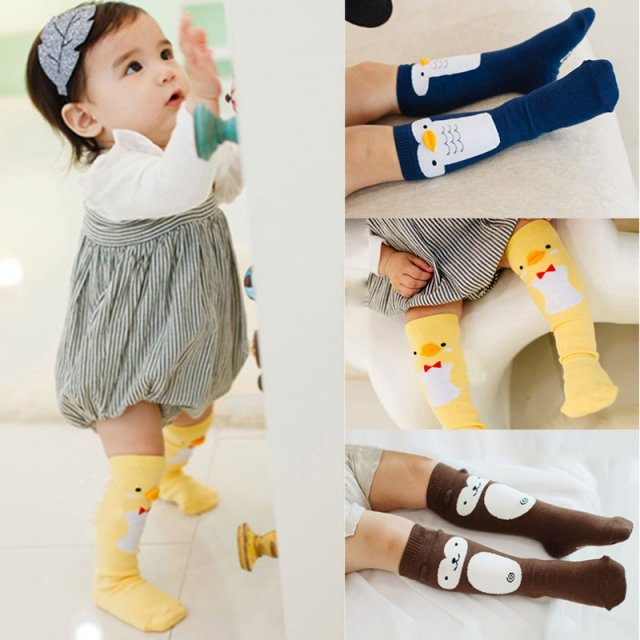 2c33bf44c73 Baby Girls Cotton Knee High Socks Leg Warmers Cute Cartoon Leggings Toddler  Infant Children Kids Stockings