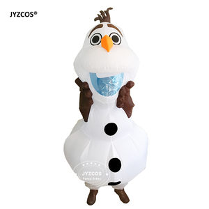 Image 4 - JYZCOS Olaf Snowman Costumes for Women Men Adult Purim Halloween Inflatable Christmas Blowup Anime Cosplay Fancy Dress Up Mascot