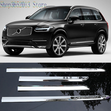 For Volvo Xc90 2016 2018 Abs Chrome Door Body Side Molding Cover Trims Car Styling