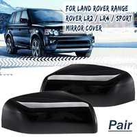 2pcs Rear View Mirror Cover For Land Rover LR2 LR4 2010 2014 Range Rover Sport 2010 2013 Range Rover 2010 2012 chromed