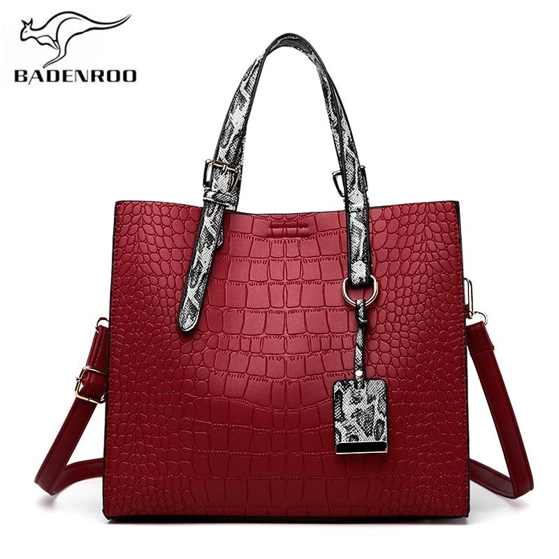 Badenroo Simple Alligator Leather Women's Handbags Snake Texture Ladies Shoulder bag Tote Crocodile Female Crossbody Bags Bolsas
