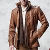 2017 Autumn Winter Mens Causal Leather Jackets Slim Fit Warm Fleece Coats 4XL Plus Size Zipper