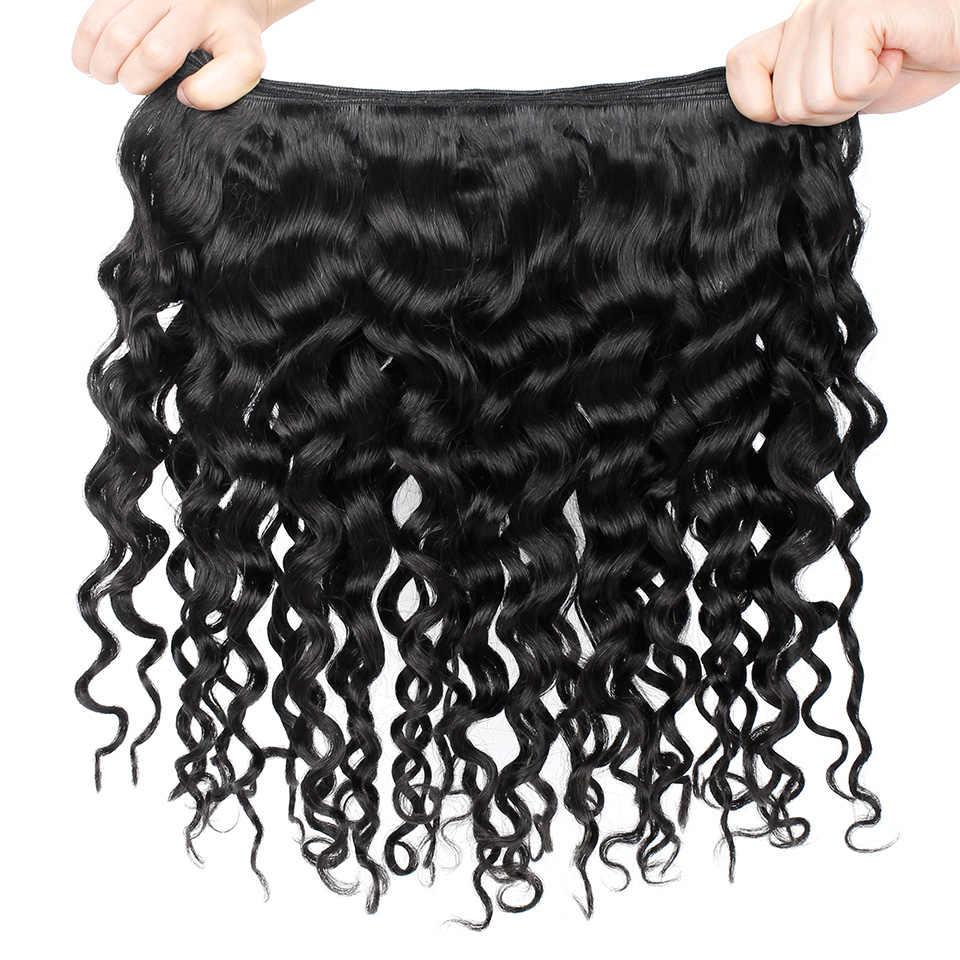 Paquetes de pelo brasileño rizado italiano Yonne 3 piezas cabello humano virgen tejido Color Natural 8-28 pulgadas envío gratis