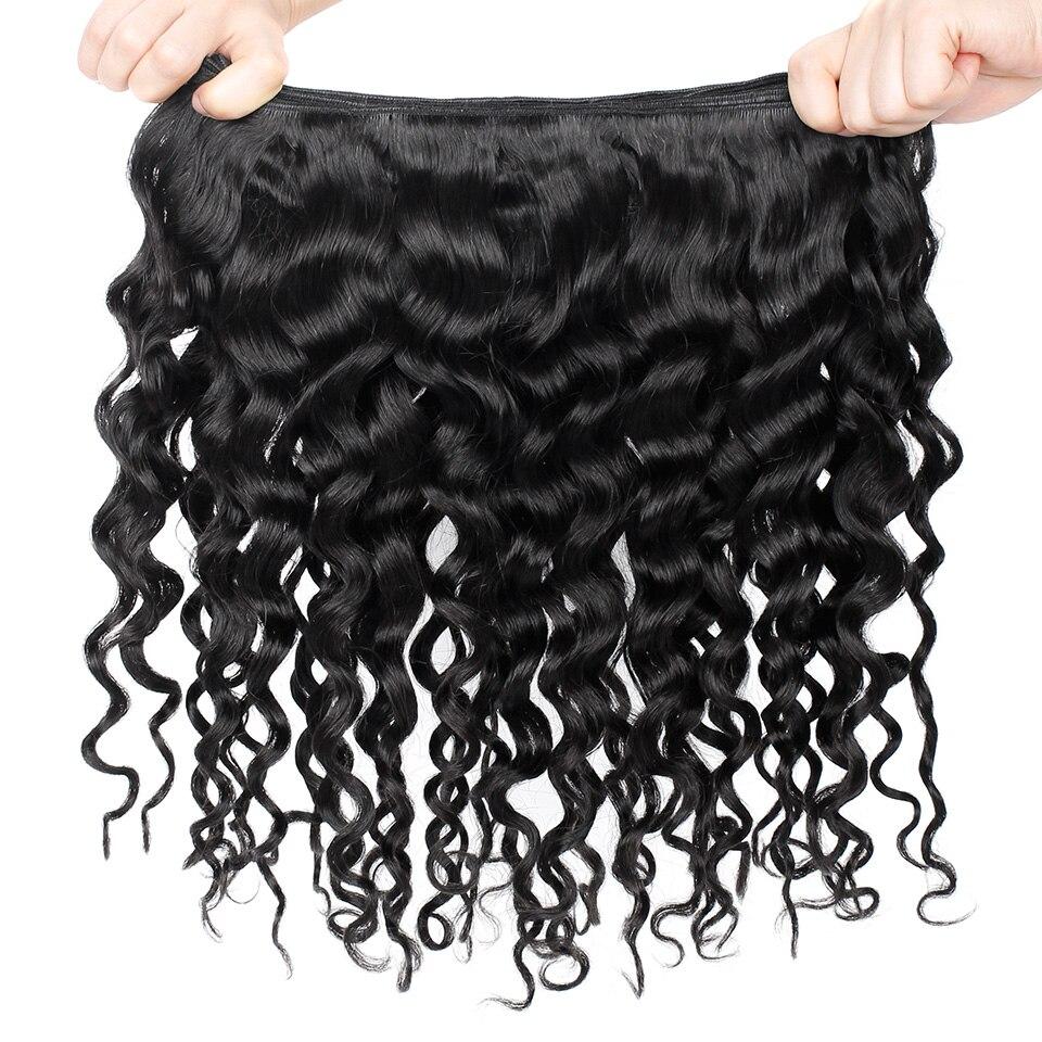 YVONNE cheveux brésiliens bouclés italiens armure paquets 3 pièces vierge cheveux humains armure couleur naturelle 8-28 pouces livraison gratuite - 3