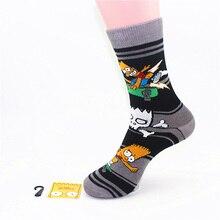 Simpson Cartoon Man women cotton comfortable odorless moisture wicking socks for causal socks free shipping