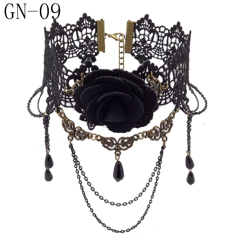 HTB1ujQ1KXOWBuNjy0Fiq6xFxVXaM - YiYaoFa Vintage Choker Necklace Gothic Jewelry Necklaces & Pendants False Collar Statement Necklace for Women Accessories GN-07