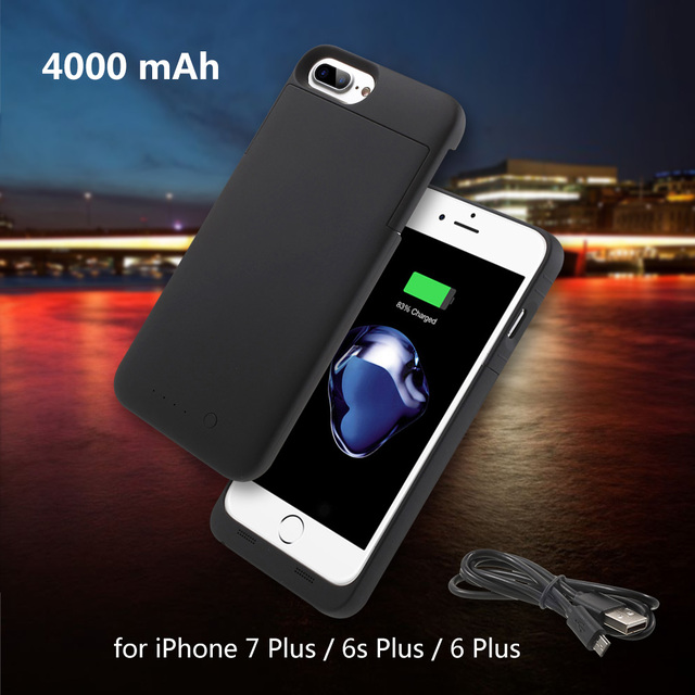 MAXNON for iPhone 7 Plus/ 6s plus/6 plus 5.5 inch Battery Cases M7P MFI Certified 4000mAh Battery Charger Case for iPhone 7 Plus
