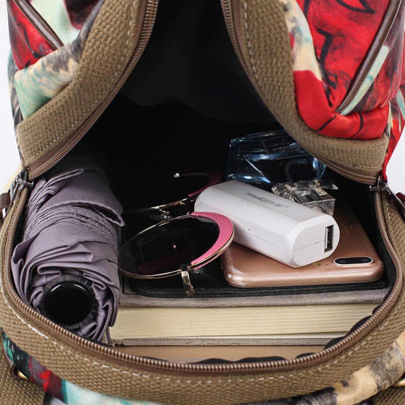 Valenkuci Модный Цветочный Женский мини-рюкзак, школьные сумки для девочек-подростков, рюкзак с защитой от кражи, маленькие рюкзаки, mochila mujer