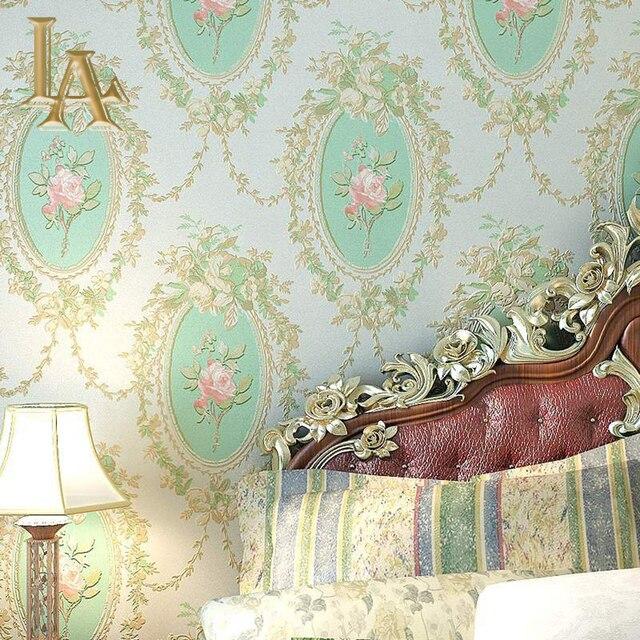 European luxury romantic rose flowers wallpaper for walls 3 d european luxury romantic rose flowers wallpaper for walls 3 d bedroom floral background green pink beige mightylinksfo