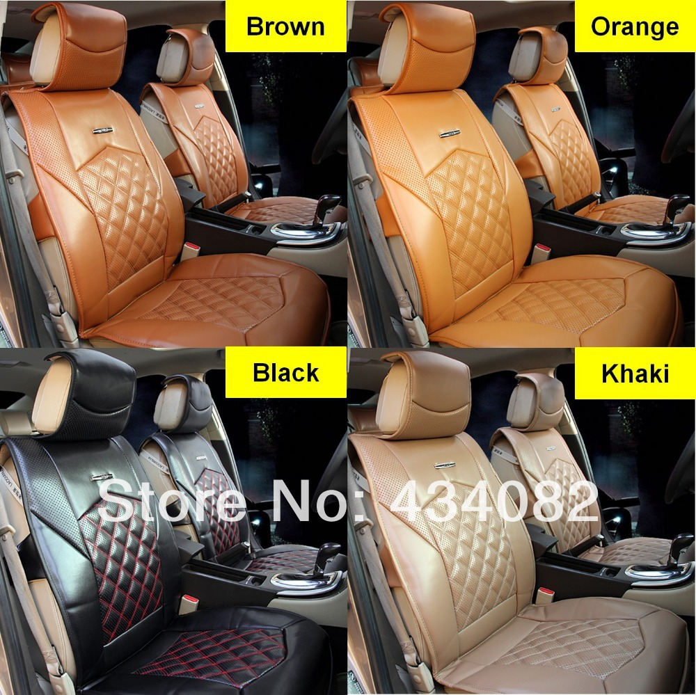 5 Seat Cover Top Soft Luxury Manual Leather Car Cushion For Universal CarsBenzBMWAudiToyotaHondaGM Black Orange Brown In Automobiles Covers