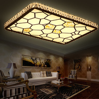 3 Color Change Led Ceiling Lamp Crystal Round Water Cube Creative Living Room Lights Bedroom Dimming Fashion Ceiling Light