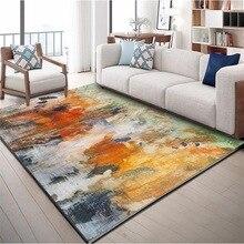 Alfombra nórdica con diseño abstracto de acuarela INS, alfombra para el hogar, dormitorio, cabecera, entrada, ascensor, alfombrilla para el suelo, sofá, mesa de café, alfombra antideslizante