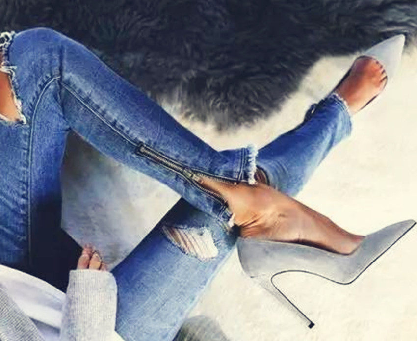 New arrival thin high heels women pumps pointed toe high heel shoes grey suede luxury women party dress shoes mcckle woman pointed toe zip high heels sexy party dress pumps female suede thin heel metal pendant stilettios women shoes page 3