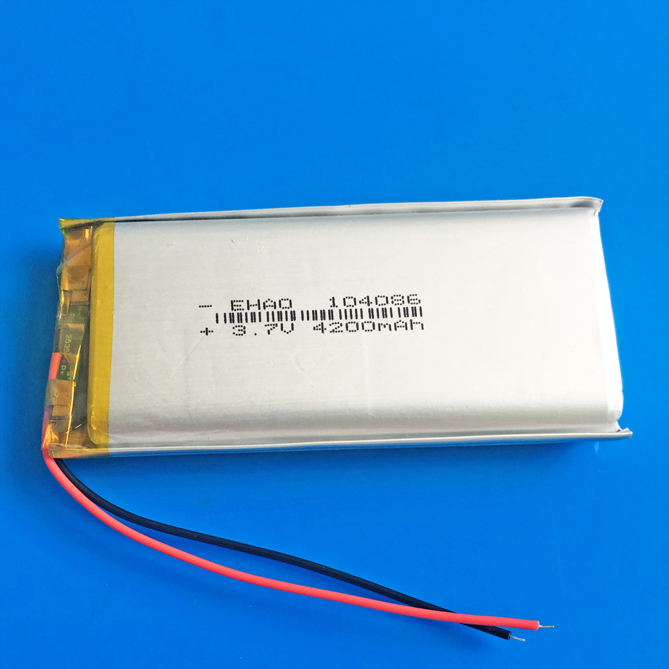 <font><b>3.7V</b></font> <font><b>4200mAh</b></font> lithium polymer Rechargeable Lipo <font><b>battery</b></font> for GPS DVD PDA PAD power bank e-book camera tablet PC laptop 104086 image