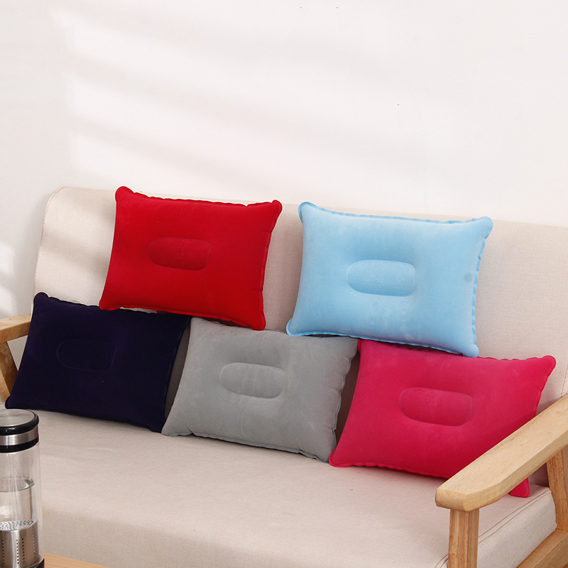 1 Piece Camping Pillow Square Inflatable Pillow Outdoor