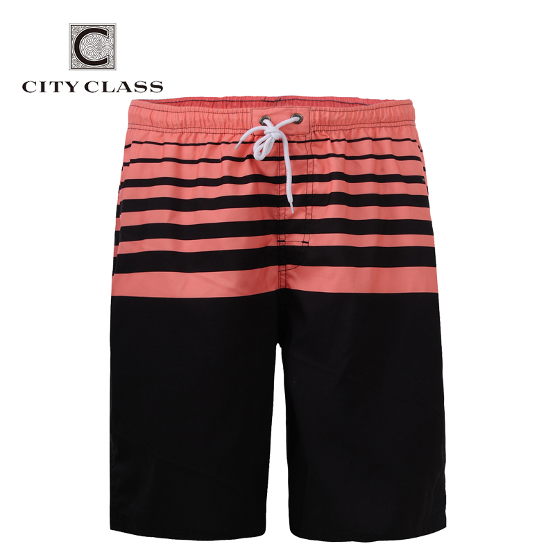 City Class 2018 Mens Summer New Leisure Pantaloncini da spiaggia allentati Regular Lunghezza Bermuda Masculina Formato europeo Boardshorts 1753