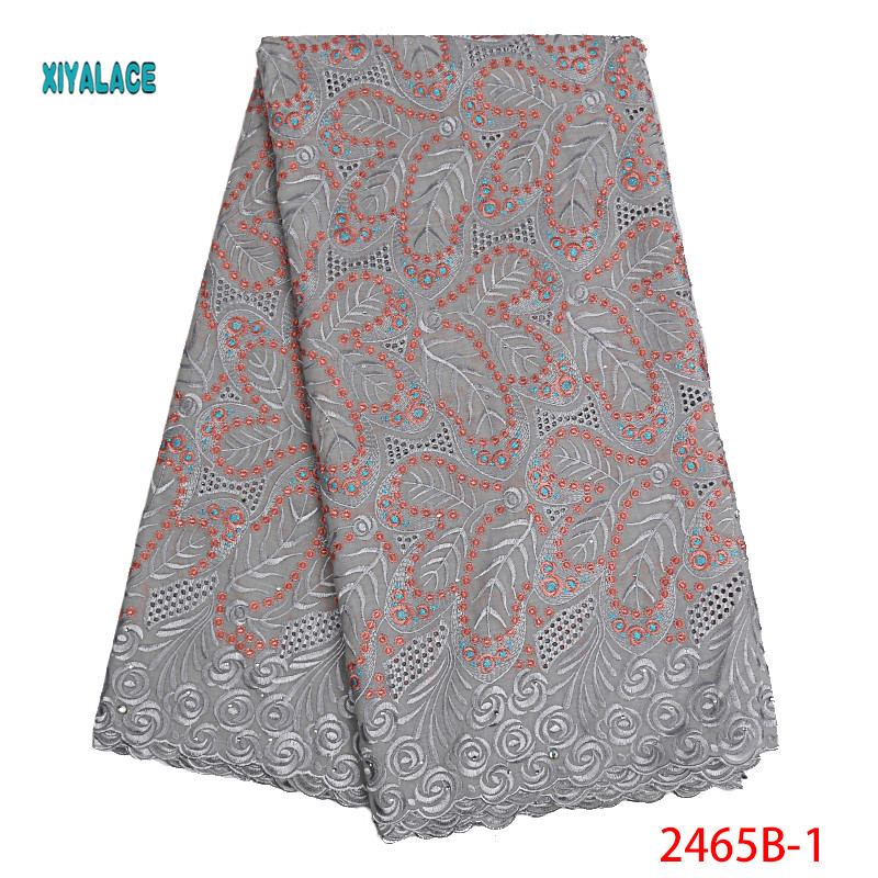 Nigerian Lace Fabrics 2019 African Swiss Voile Lace High Quality French Swiss Voile Lace In Switzerland For Wedding YA2465B-2