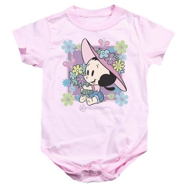 Trevco Popeye-Olives Garden Infant Snapsuit Pink – Small 6 Months