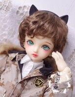 New Bjd Doll Wig 1/3 1/4 1/6 8 9 7 8 6 7 Brown Short curly hair handsome BJD PULLIP SD DOLLFIE Wig