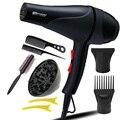 Con 7 Regalos con boquillas de viaje ajuste de aire Caliente y fría secador de pelo Profesional secador de pelo para uso doméstico salón secador de pelo