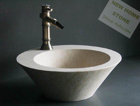 Granieten Wasbak Badkamer : Marmeren badkamer wastafel ronde vorm badkamer wastafel beige