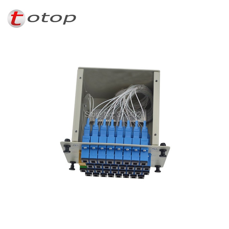 FREE SHIPPING 1x32 Splitter Fiber Optical, PLC Splitter SC/UPC 1x32 LGX Box Cassette Card Inserting PLC splitter Module