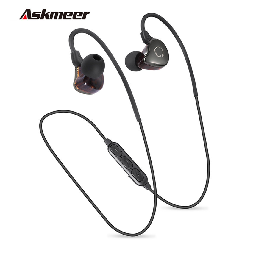 Askmeer BS5 Metal Bluetooth Headset Earbuds Sport Runner Wireless Headset In Ear Headphones Stereo Earphones wtih Mic For Phones степпер sport elit bs 803 bla b ez
