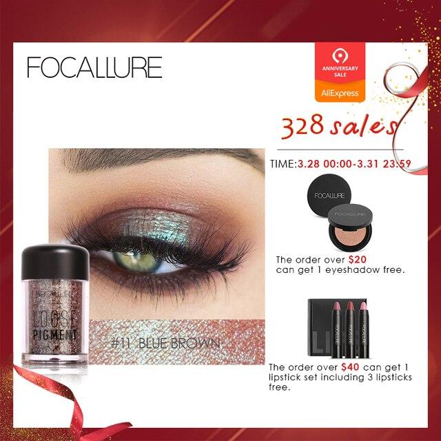 Focallure 18 Colors Glitter Eye Shadow Cosmetic Makeup Diamond Lips