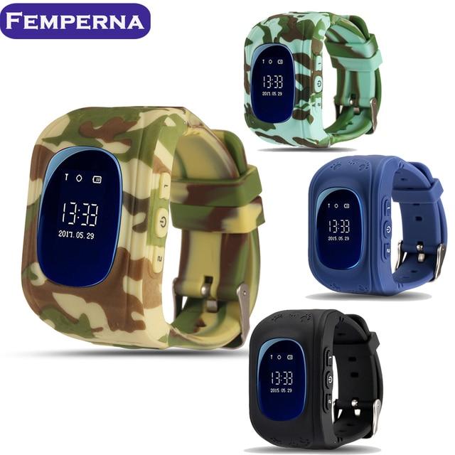 Femperna Kids Smartwatch Q50 SOS Call Locator Tracker Baby Smart Watch with GPS Sim card Russian smart baby watch for Children