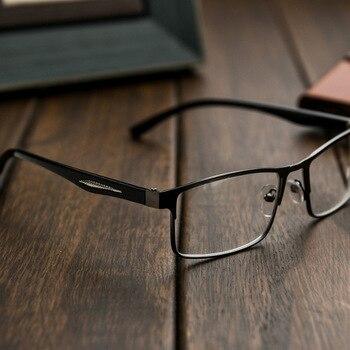 15de3ee7c0 Cubojue gafas de lectura de los hombres la marco + 100, 150, 200, 250, 300,  350, 400 dioptrías hombre gafas de visión de cerca hombre de alta calidad