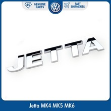 OEM Jetta Emblem Rear Trunk Lid Car Decal Badge Sticker for VW Silver Chrome